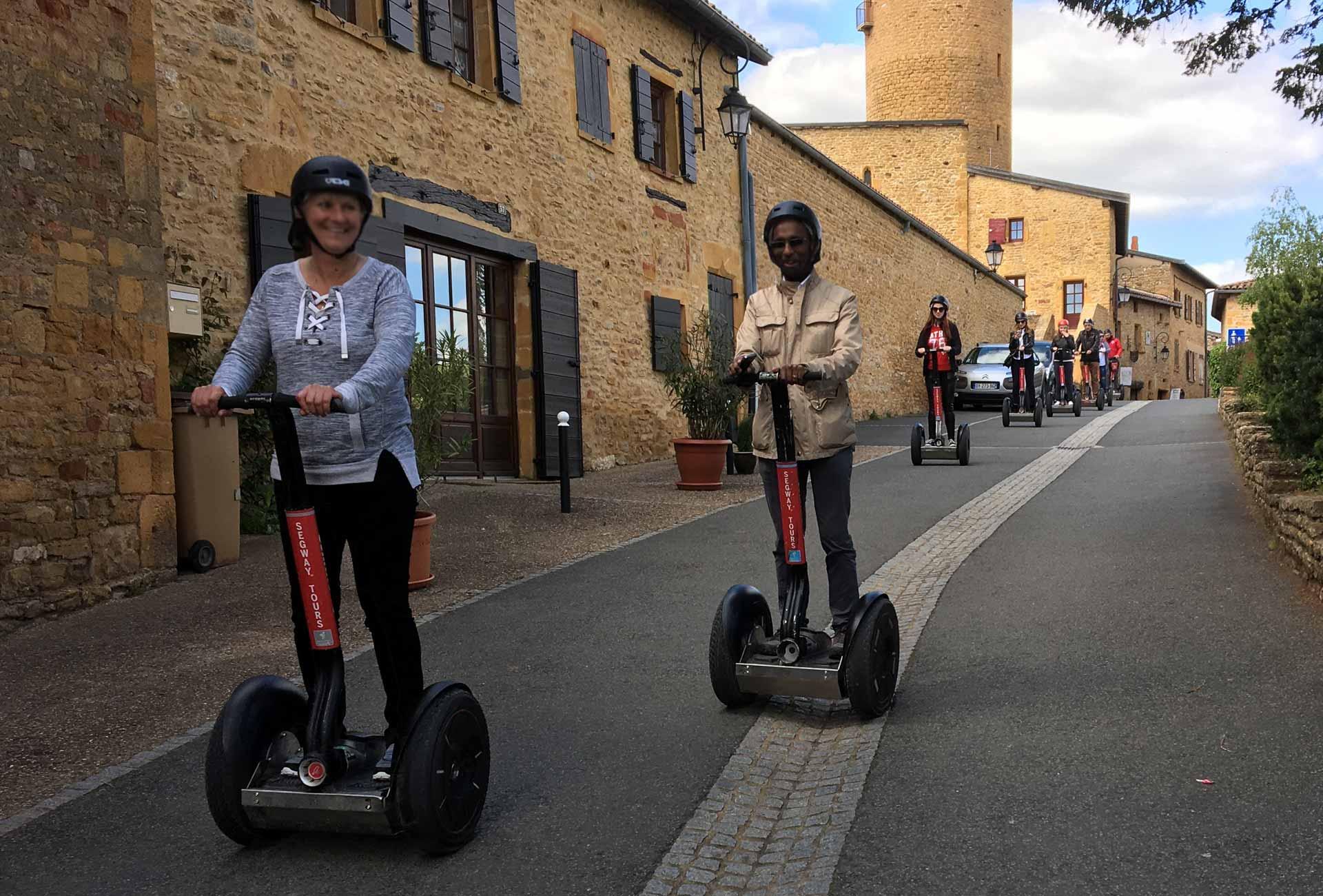Chemins de Vigne, une journée d'entreprise Beaujolais, Esprit Libre Segway