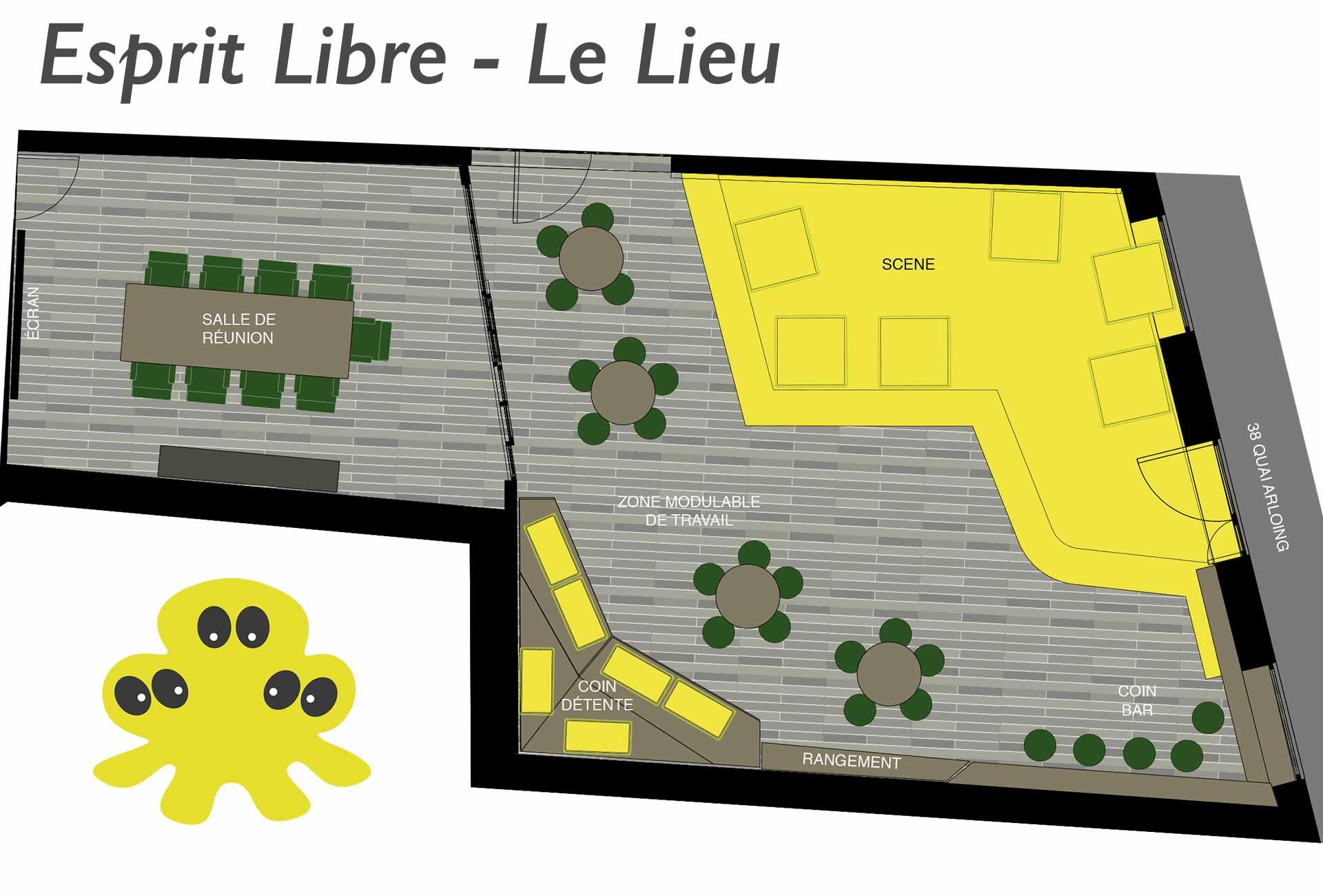 Esprit Libre Le lIeu pour vos évènements d'entreprise à Lyon - Plan